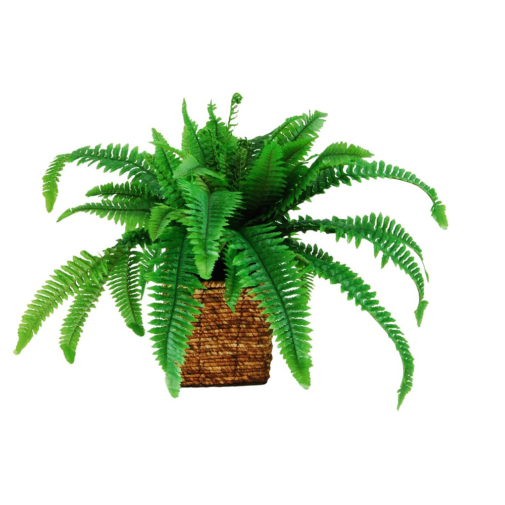 Artificial Fern Plant - Green - 20in - Lcg Florals