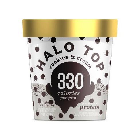 Halo Top Cookies & Cream Ice Cream - 16oz - image 1 of 4