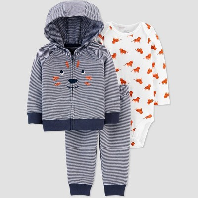 Baby Boys' North Tiger Top & Bottom Set - Just One You® made by carter's Blue 9M