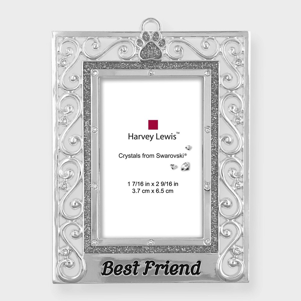 Image of Crystals from Swarovski - Harvey Lewis - Best Friend Frame Ornament, Silver
