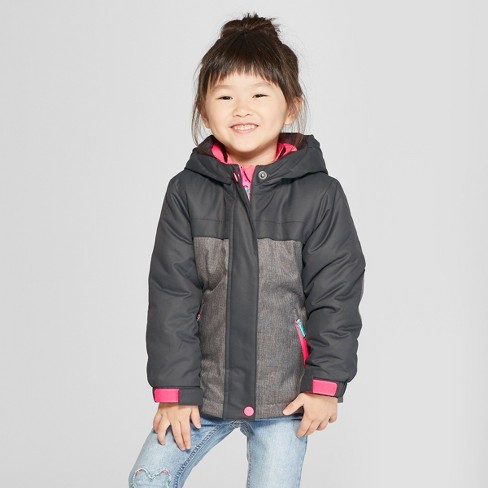 Toddler Girls' Solid 3-in-1 Jacket - Cat & Jack™ Gray - image 1 of 4