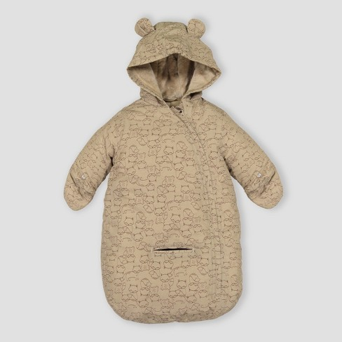 Baby Boys' Fox Print Snowsuit Just One You® made by carter's Beige One Size - image 1 of 1