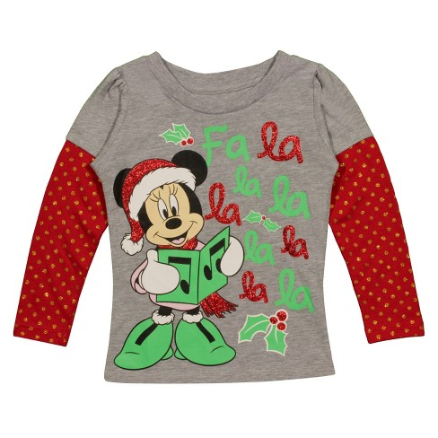 Toddler Minnie Mouse Holiday Long Sleeve 2pk - image 1 of 1