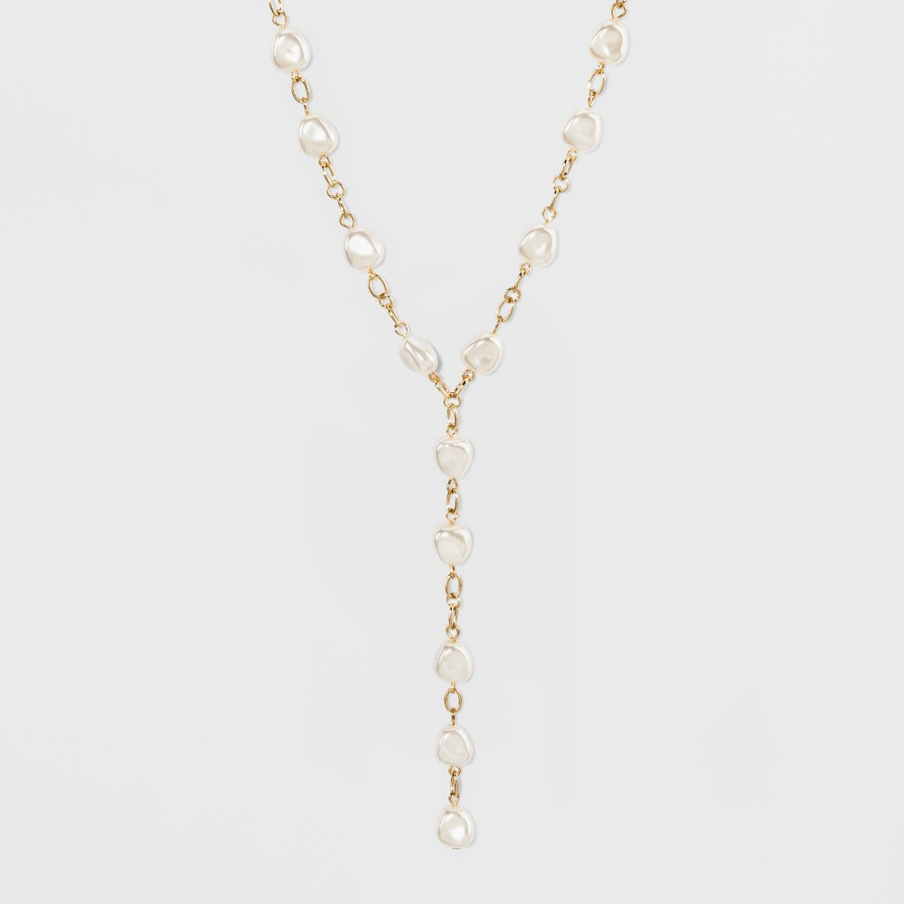 Sugarfix by BaubleBar Pearls Delicate Y Necklace - Pearl, Girl's