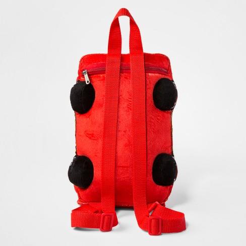 f2832ec415 Toddler Boys' Disney Cars Lightning McQueen Plush Backpack - Red ...
