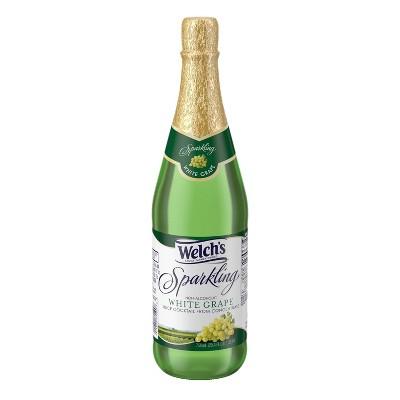Welch's Sparkling White Grape Juice - 25.4 fl oz Glass Bottles