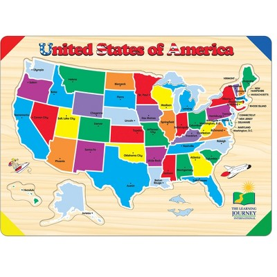 The Learning Journey Lift & Learn Puzzle USA Map