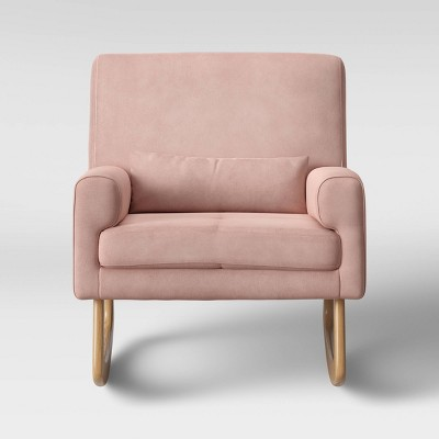 Nursery Works Sleepytime Rocker - Light Legs - Blush Velvet