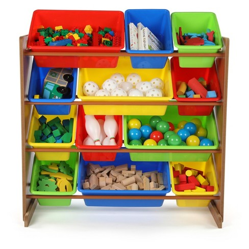 Toy Organizer - Highlight Collection - Dark Pine/Primary - Tot Tutors - image 1 of 2