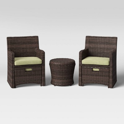 Halsted 5pc Wicker Patio Seating Set - Threshold™