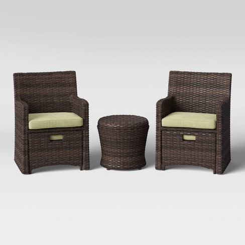 Halsted 5pc Wicker Patio Seating Set, 5 Piece Wicker Patio Set Target