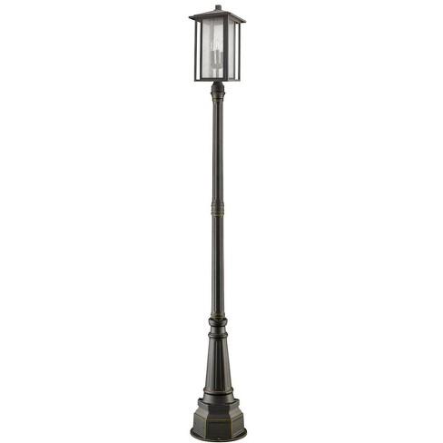 "Z-Lite 554PHXLR-564P Aspen 3 Light 106-11/16"" Tall Outdoor Single Head Post Light - image 1 of 1"