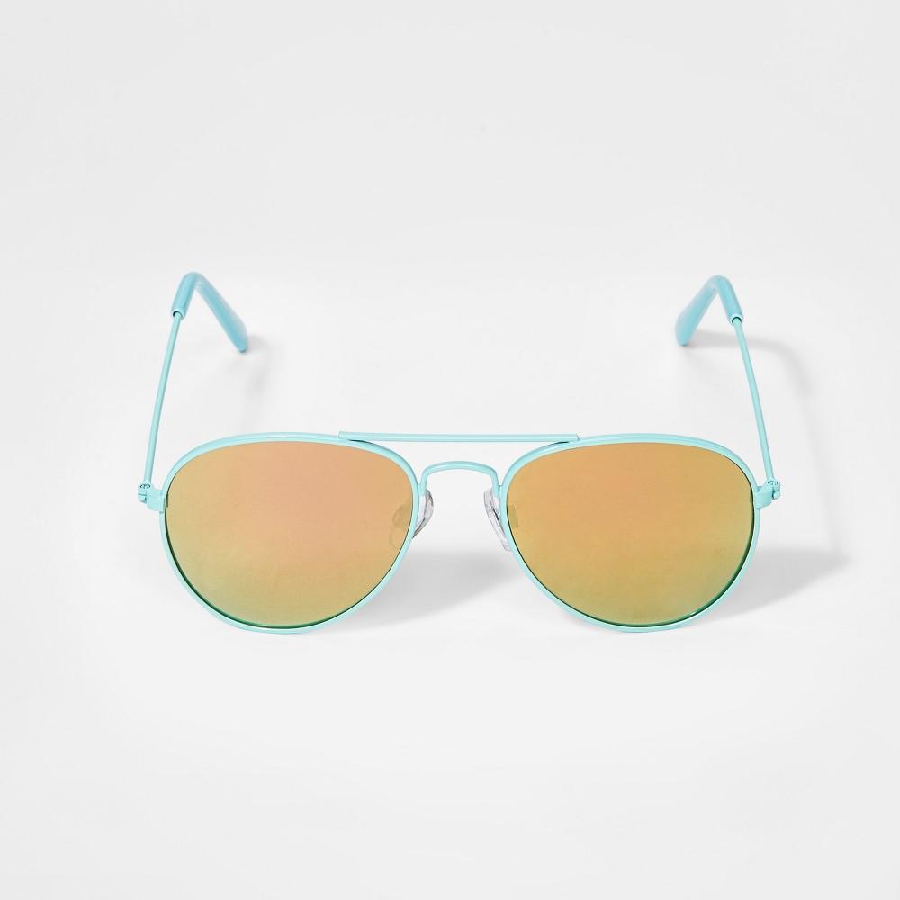 Girls' Aviator Sunglasses - Cat & Jack Turquoise
