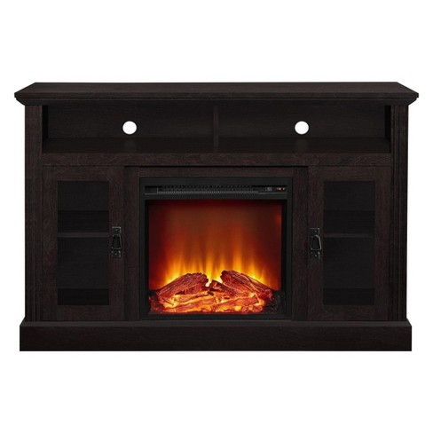 "Pinnacle Point 50"" Fireplace TV Console Espresso - Room & Joy - image 1 of 6"