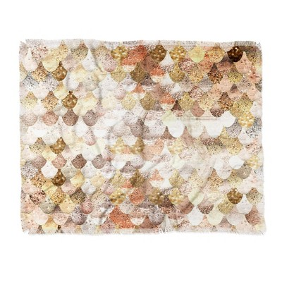 "60""X50"" Monika Strigel Really Mermaid Throw Blanket Brown - Deny Designs"