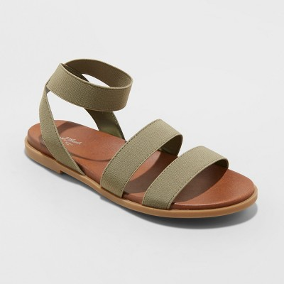 Women's Paisley Elastic Ankle Strap Sandals - Universal Thread™