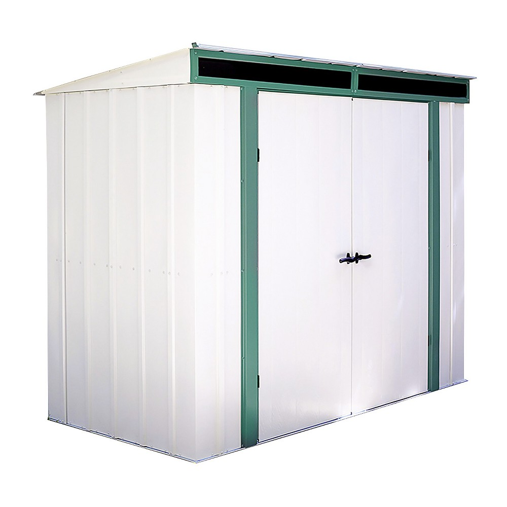 Euro - Lite Pent Window Shed, 8' X 4' - Arrow Storage Products, Eggshell