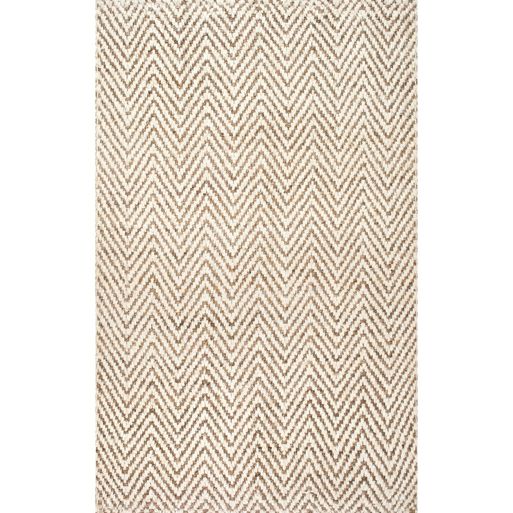 5'X8' Solid Area Rug Off-White - nuLOOM, Blue