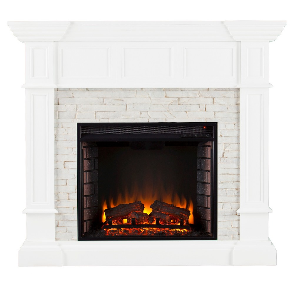 Maison Convertible Electric Fireplace, White