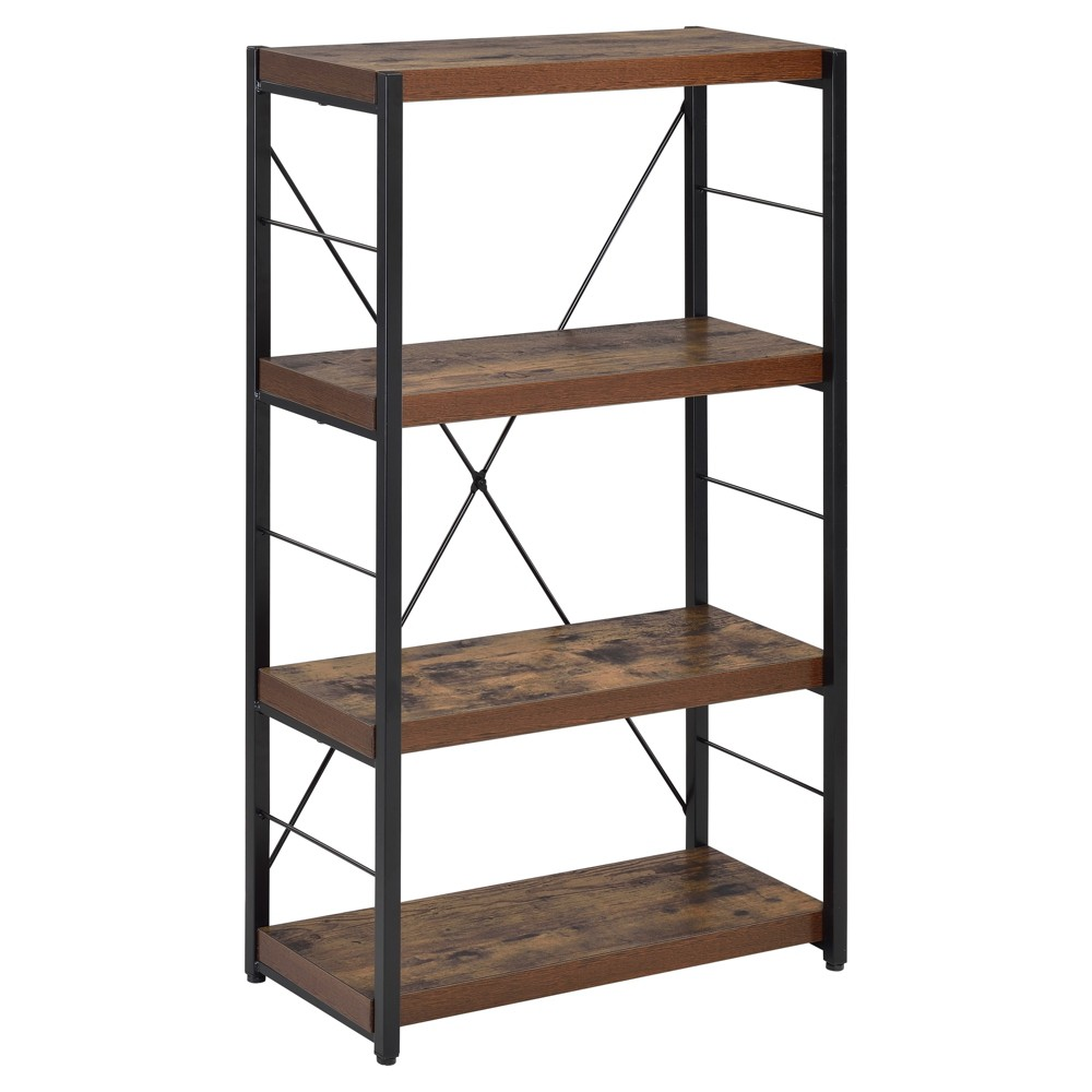 Decorative Bookshelf 43 Oak - Acme Furniture, Weathered Oak