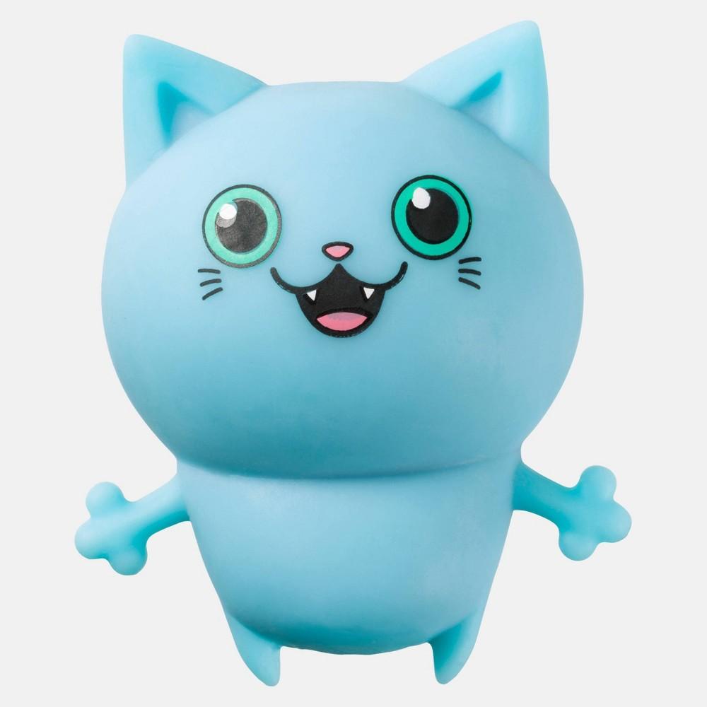 Image of Cat Squish Animal Figure Blue