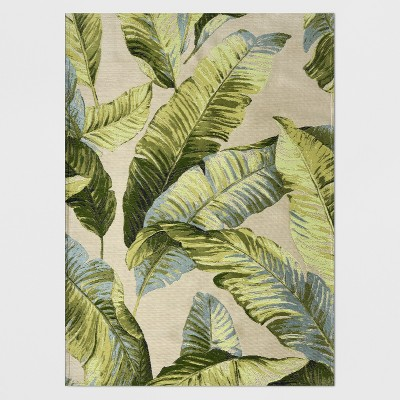 5' x 7' Vacation Tropical Outdoor Rug Green - Threshold™