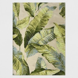 Vacation Tropical Outdoor Rug Green - Threshold™