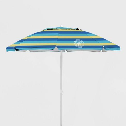 Caribbean Joe Outdoor Beach Stick Umbrella - Blue/ Yellow - image 1 of 2