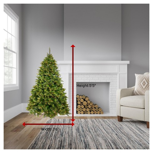 55ft pre lit artificial christmas tree cashmere pine multicolored lights target - Cashmere Christmas Tree