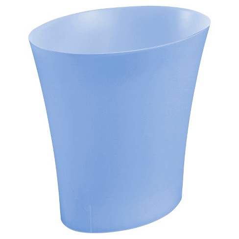 No-lid Trash Can Oval 3.3gallon Blue&nbsp - Room Essentials™ - image 1 of 2