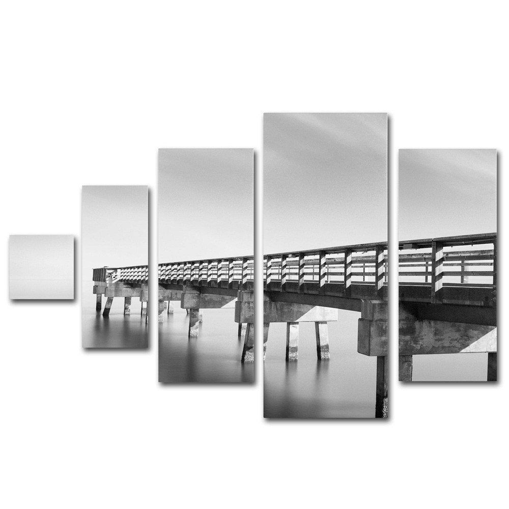 'Infinity Panorama I' by Moises Levy Ready to Hang Multi Panel Art Set, Multi-Colored