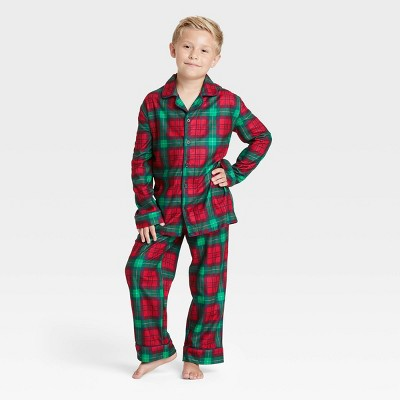 Kids' Holiday Plaid Flannel Matching Family Pajama Set - Wondershop™ Red
