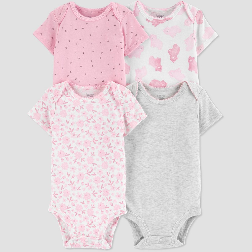 Baby Girls 39 4pk Cloud Bodysuit Just One You 174 Made By Carter 39 S Pink Preemie