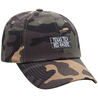 NCAA Texas Tech Red Raiders Men's Camo Washed Relaxed Fit Hat