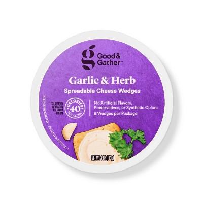 Garlic & Herb Spreadable Cheese Wedges - 4oz - Good & Gather™