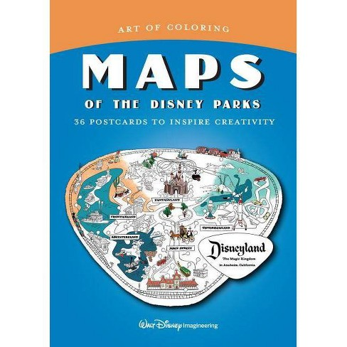 Art Of Coloring: Maps Of The Disney Parks - (Paperback) : Target Disneyland Parks Map on