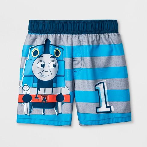 492de05192 Toddler Boys' Thomas Friends Thomas the Tank Engine Swim Trunks - Blue.  Shop all Disney