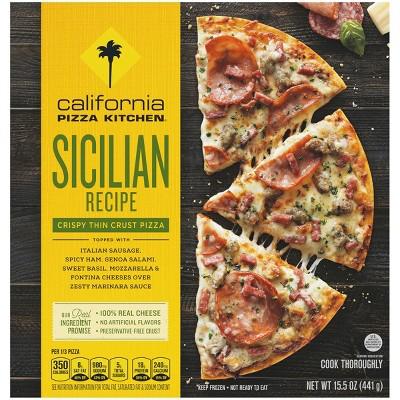 """California Pizza Kitchen Crispy Thin Crust Sicilian Recipe Frozen Pizza - 12"""""""