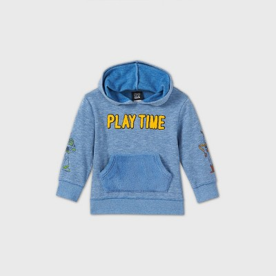 Toddler Boys' Toy Story Play Time Hooded Fleece Sweatshirt - Blue 3T