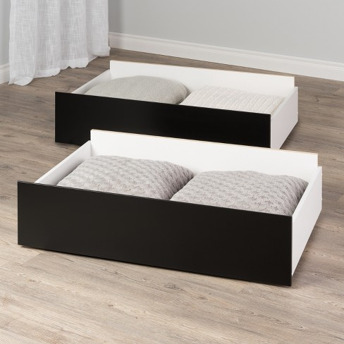 Set Of 2 Select Storage Drawers On, Under Bed Storage Drawers On Wheels