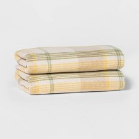 2-Pack Threshold Terry Plaid Hand Towel Set Deals