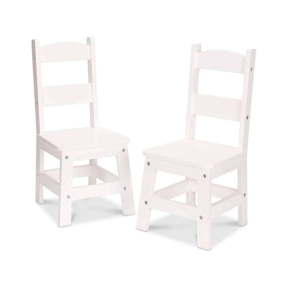 Melissa 38 Doug Wooden Chair Pair White