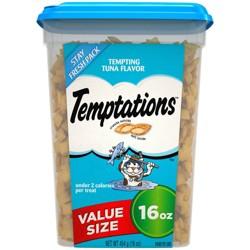 TEMPTATIONS Classic Treats for Cats Tempting Tuna Flavor 16 ozs