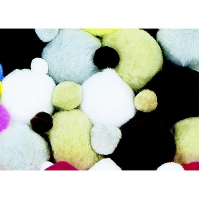 Creativity Street Non-Toxic Pom Pon, Assorted Size, Assorted Animal Color, set of 100