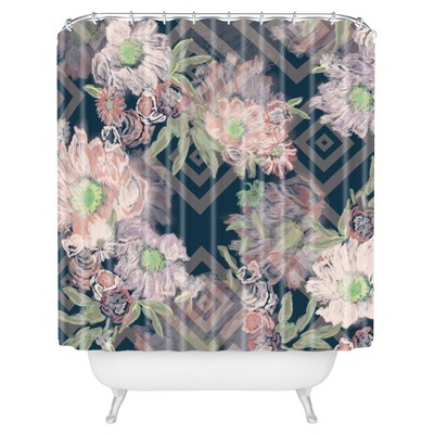 Khristian A Howell Bouquet Shower Curtain Navy - Deny Designs