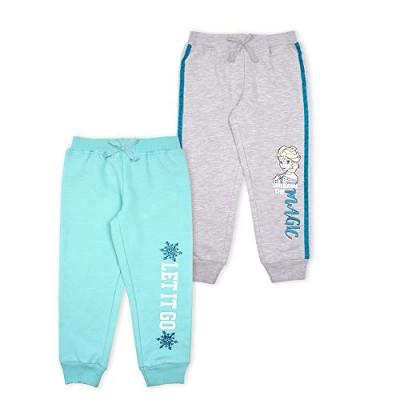 Disney Girl's 2-Pack Frozen II Elsa and Anna Printed Jogger Pant Set For Kids