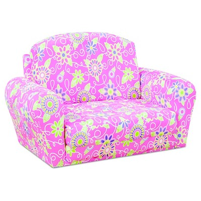 Sweet Dreamer Pull-Out Sleep-Sofa - Daisy Doodle With Passion Pink - Kangaroo Trading Co.