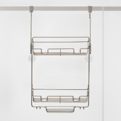 Over the Door Round Wire Shower Caddy Matte Satin - Made By Design™