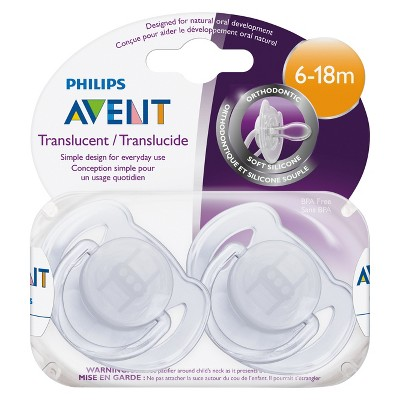 Philips Avent Pacifier-Translucent Toddler (6-18 Mo's)