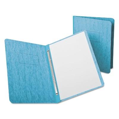 "Oxford PressGuard Report Cover Prong Clip Letter 3"" Capacity Light Blue 12701"